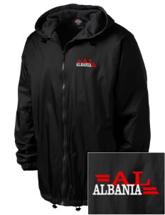 Albania Embroidered Dickies Men's Fleece-Lined Hooded Jacket