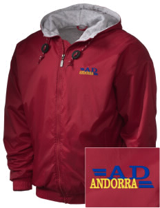 Andorra Embroidered Holloway Men's Hooded Jacket
