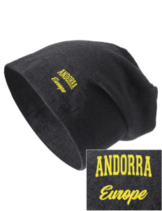 Andorra Embroidered Slouch Beanie