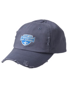 Argentina Embroidered Distressed Cap