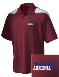 Armenia Embroidered Holloway Men's Frequency Performance Pique Polo