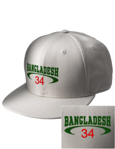 Bangladesh  Embroidered New Era Flat Bill Snapback Cap
