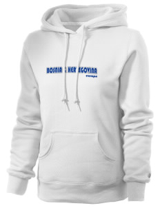 Bosnia & Herzegovina Russell Women's Pro Cotton Fleece Hooded Sweatshirt