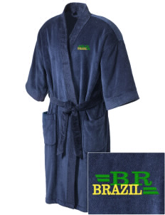 Brazil Embroidered Terry Velour Robe