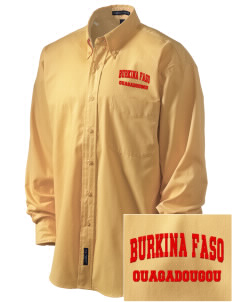 Burkina Faso Embroidered Men's Easy-Care Shirt