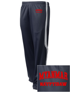 Myanmar Embroidered Holloway Men's Tricotex Warm Up Pants
