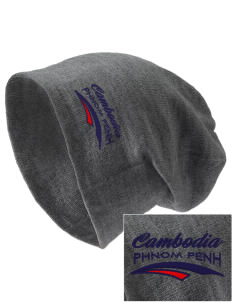 Cambodia Embroidered Slouch Beanie