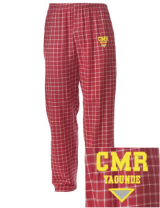 Cameroon Embroidered Men's Button-Fly Collegiate Flannel Pant
