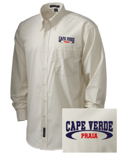 Cape Verde  Embroidered Men's Easy Care, Soil Resistant Shirt