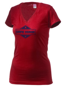 Cape Verde Juniors' Fine Jersey V-Neck Longer Length T-shirt