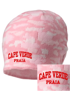 Cape Verde Embroidered Camo Beanie