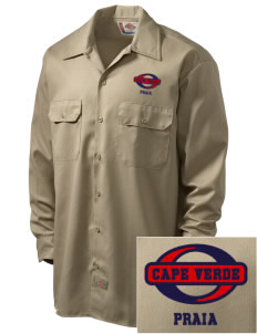 Cape Verde Embroidered Dickies Men's Long-Sleeve Workshirt
