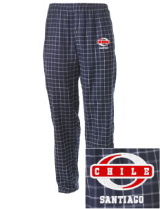 Chile Embroidered Men's Button-Fly Collegiate Flannel Pant