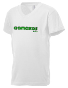 Comoros Kid's V-Neck Jersey T-Shirt