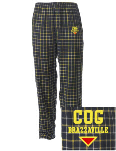 Republic of Congo Embroidered Men's Button-Fly Collegiate Flannel Pant