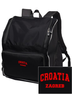 Croatia Embroidered Holloway Duffel Bag
