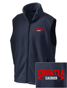 Croatia Embroidered Unisex Wintercept Fleece Vest