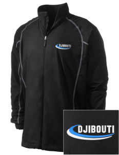Djibouti Embroidered Men's Nike Golf Full Zip Wind Jacket
