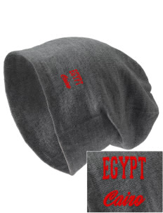 Egypt Embroidered Slouch Beanie