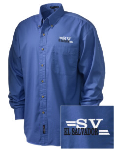El Salvador Embroidered Men's Twill Shirt
