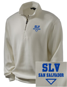El Salvador Embroidered Men's 1/4-Zip Sweatshirt