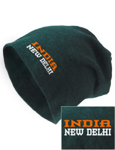 India Embroidered Slouch Beanie