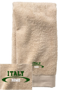 Italy  Embroidered Zero Twist Resort Hand Towel