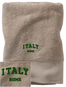 Italy Embroidered Zero Twist Resort Towel