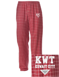 Kuwait Embroidered Men's Button-Fly Collegiate Flannel Pant