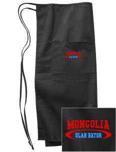 Mongolia Embroidered Full Bistro Bib Apron