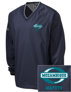 Mozambique Embroidered adidas Men's ClimaProof V-Neck Wind Shirt