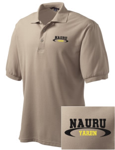 Nauru Embroidered Tall Men's Silk Touch Polo