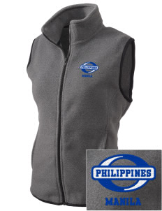 Philippines Embroidered Women's Fleece Vest