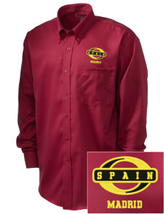 Spain  Embroidered Men's Nailhead Non-Iron Button-Down