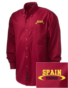 Spain Embroidered Men's Twill Shirt