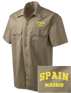 Spain Embroidered Dickies Men's Short-Sleeve Workshirt