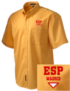Spain Embroidered Men's Easy Care Shirt