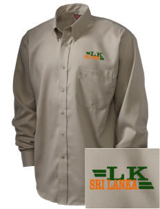 Sri Lanka  Embroidered Men's Nailhead Non-Iron Button-Down
