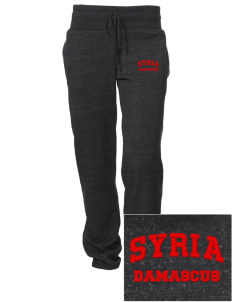 Syria Embroidered Alternative Women's Unisex 6.4 oz. Costanza Gym Pant