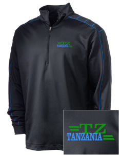 Tanzania Embroidered Nike Men's Golf Dri-Fit 1/2 Zip