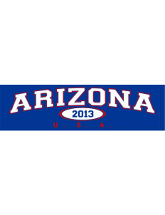 "Arizona Bumper Sticker 11"" x 3"""