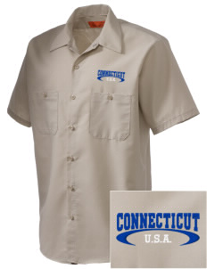 Connecticut Embroidered Men's Cornerstone Industrial Short Sleeve Work Shirt