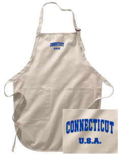 Connecticut Embroidered Full-Length Apron with Pockets