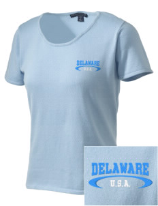 Delaware Embroidered Women's Fine-Gauge Scoop Neck Sweater