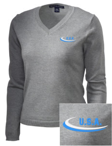 Delaware Embroidered Women's V-Neck Sweater