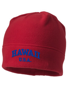 Hawaii Embroidered Fleece Beanie