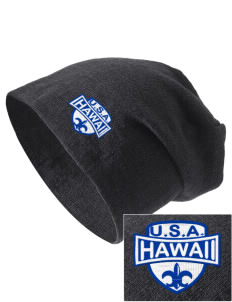 Hawaii Embroidered Slouch Beanie