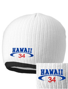 Hawaii Embroidered Champion Striped Knit Beanie