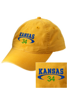 Kansas Embroidered Vintage Adjustable Cap