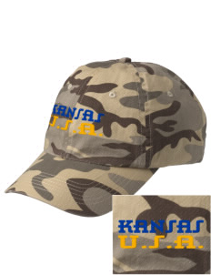 Kansas Embroidered Camouflage Cotton Cap